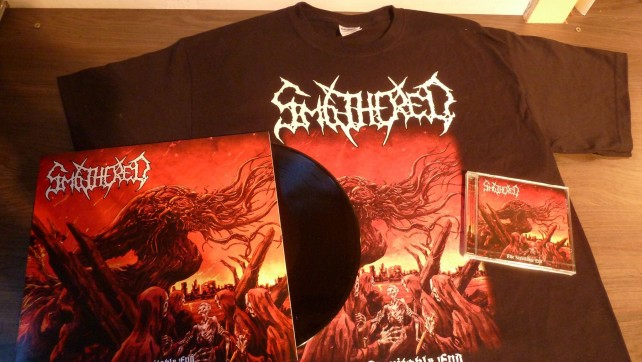 "Out now: Smothered ""The inevitable end"" T-shirt!"